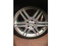 """Mercedes 17"""" amg alloy/tyre"""