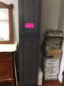 CLEARANCE all vanity linen tower + upper cabinet demos!!!