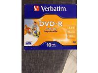7 packs of 10 DVD R disc
