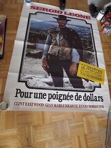 FISTFUL OF DOLLARS/ EASTWOOD JUMBO FRENCH MOVIE POSTER/IMPORT