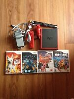 Wii mini with 4 games