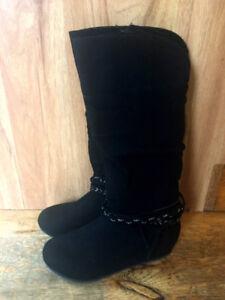 Girls dressy boots size 2 black long