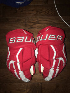 Pro Stock Ohio State Buckeyes Bauer MX3 Gloves