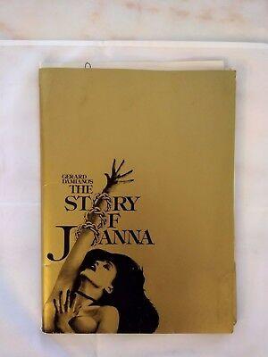 Gerard Damiano's The Story of Joanna Press Kit 1976 X-Rated Movie
