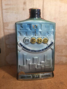 Vintage 1968 Reno Nevada 100 Year Anniversary Jim Beam Decanter