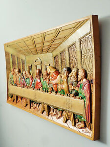 "WOOD CARVING MURAL ""LAST SUPPER'' West Island Greater Montréal image 2"