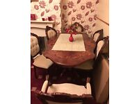 Italian dinning table and six chairs