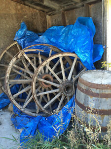 Wagon Wheels and Barrels