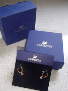 Swarovski Crystal & Rose Gold Plated Double Earring set ~ NEW!!