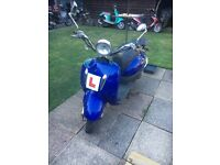 Direct bikes 125 scooter moped Vespa rep 2008 project unrecorded damaged