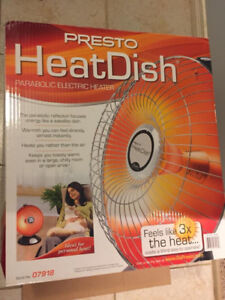Heater, electric dish, like new