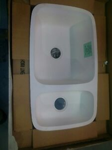 TRANSOLID granit double undermount sink