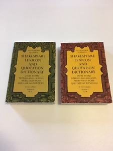 Shakespeare Lexicon & Quotation Dictionary - Vol 1 & 2