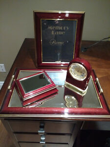 Matching Picture Frame, Clock, Tray and Case