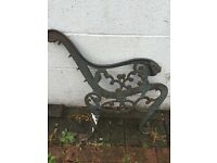 Pair of vintage cast iron bench ends £60 Ono