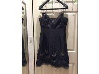 Karen Millen London OCCASION Black Dress 12UK