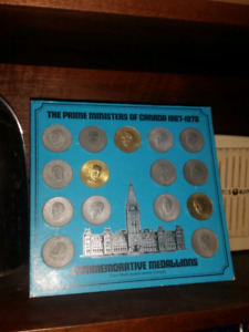 Shell canada prime ministers coin set