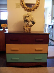Rustic 3 Drawer Tallboy Chest for sale