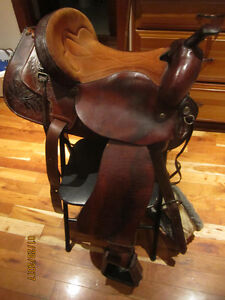 QUALITY BILLY COOK LEATHER SADDLE!- Roping & ALL AROUND