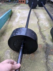 40-45kg cast iron barbell weight