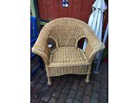 Wicker Chair basket bedroom conservatory