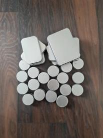 Tin storage box selection.