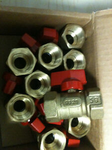LOT OF 8 NEW Gas Ball Valve  3/4 X 3/4 forged brass Kitchener / Waterloo Kitchener Area image 1