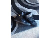 Adidas high top trainers (size 10)