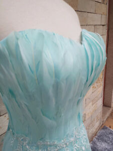 Tiffany blue full evening dress for ladies Kitchener / Waterloo Kitchener Area image 2