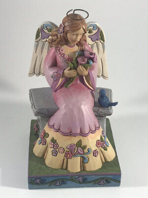 Jim Shore Angel Spring - Jim Shore Beauty in The Garden Spring Angel on Bench Figurine 4033260
