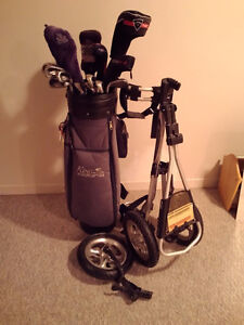 Men's complete golf set and pull cart