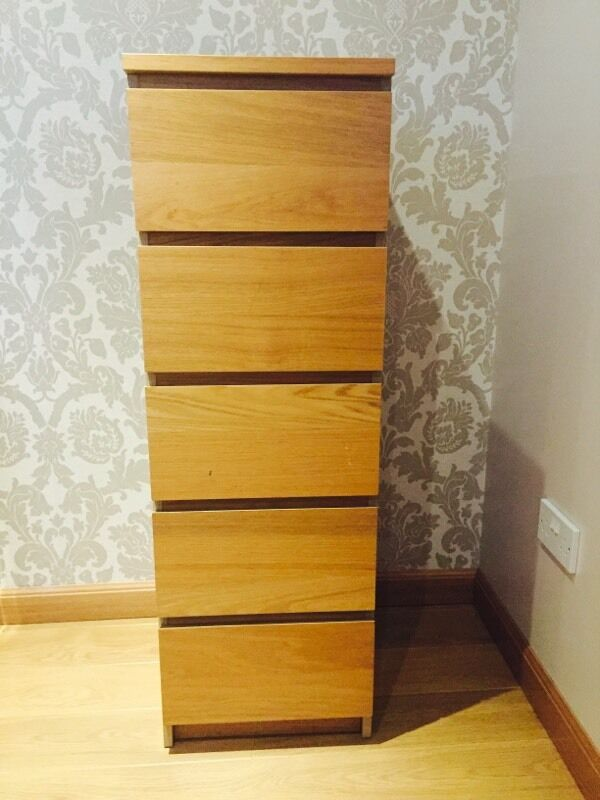 Ikea Drawers Gumtree Glasgow ~ Ikea malm 5 drawer oak tall chest, Purchase, sale and exchange ads