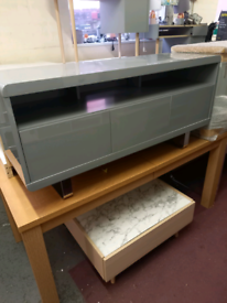 TV Storage Unit Grey gloss only £145. RBW Clearance Outlet Leicester C