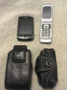 blackberry bold plus a razor flip phone