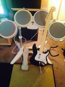 Wii Rockband N GuitarHero Bands sets