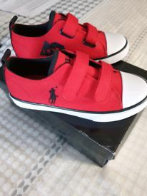 Brand new boys Ralph Lauren pumps size UK 13.