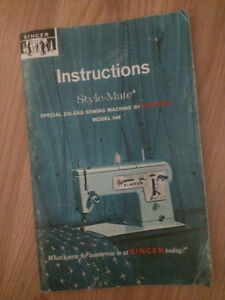 Singer Style-Mate #348 sewing machine instruction manual
