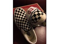 Vans Off The Wall Check Slip On Canvas Trainers UK Size 6.5