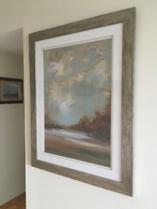 Beautiful 45x35 framed fall colour painting
