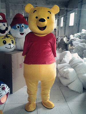 2019 Adult Halloween Birthday Party Winnie The Pooh Mascot Costume Cosplay Dress - Winnie The Pooh Halloween Costumes Adults