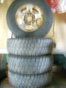 LT245/75R16 LRE M+S commercial T/A Tires on rims