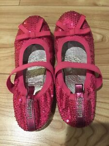 Lelli Kelly Girls Hot Pink Cequin Shoes Size 2