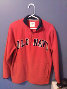 Boy's Old Navy orange fleece pullover sweater Size 14 XL