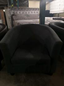 Grey tub chair