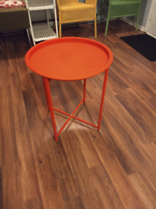 Red Side Table $20 FIRM