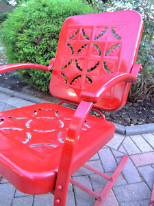 mid century chairs, outdoor furniture, vintage metal chairs, London Ontario image 4