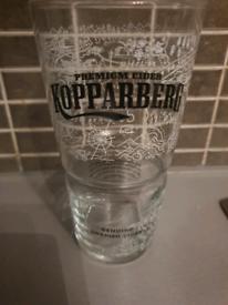 kopparberg pint glass x1
