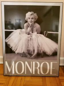 Marilyn monroe wall art / poster with wooden backing