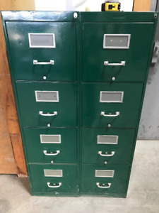 Two 4-drawer filing cabinets