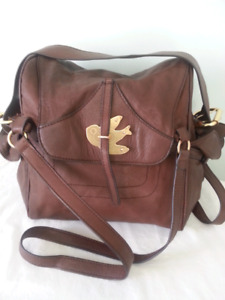 MARC BY MARC JACOBS VINTAGE GENUINE SOFT BROWN LEATHER HANDBAG S
